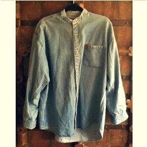 Vintage Jordache denim  light wash oversized shirt
